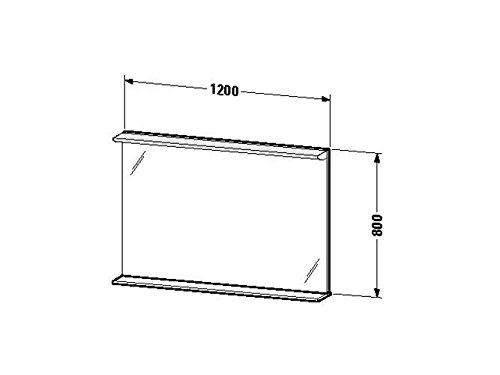 Duravit Spiegel mit Beleuchtung Darling New 170x1200x800mm, 1 Holzablage, spring, DN727801515
