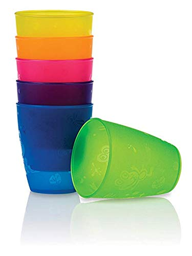 Ounce 9 Cups Fun - Nuby 4-Pack Fun Drinking Tumblers, 9 Ounce, Colors Vary