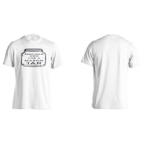 Bleib Ruhig Und Benutze Ein Maurerglas Herren T-Shirt k966m