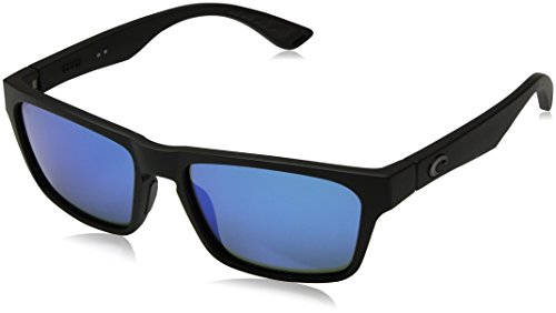 Costa del Mar Hinano Polarized Iridium Wayfarer Sunglasses, Blackout, 54.1 - Costa Wayfarer Mar Del