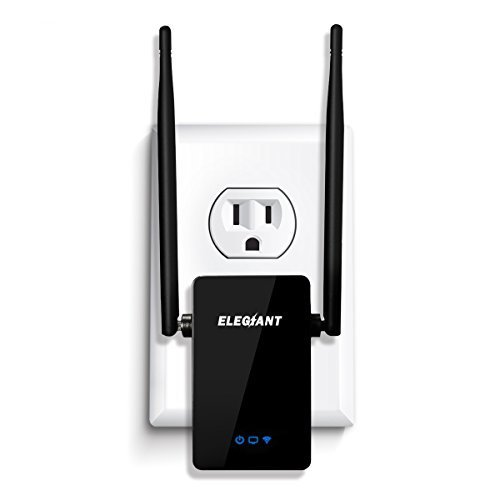 - WiFi Range Extender, ELEGIANT 300Mbps Wireless WiFi Repeater Signal Amplifier Booster Supports Router Mode/Repeater/ Access Point, with High Gain Dual External Antennas and 360 degree WiFi Coverage