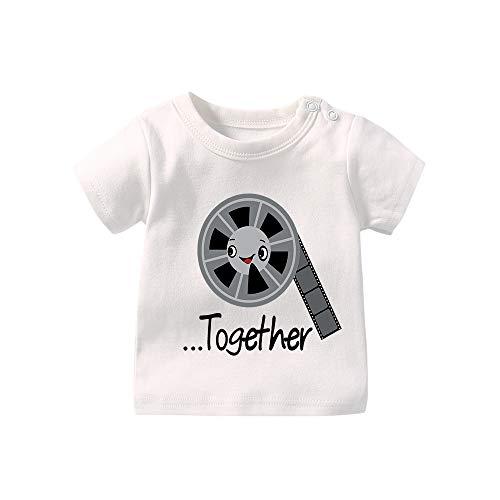 YSCULBUTOL Boy Girl Short Sleeve T-Shirt Pair with Unisex Baby Bodysuit Shirts Movie - Bodysuit Baby T-shirt Toddler