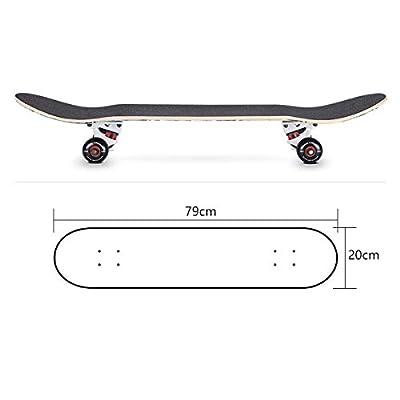 QINGMM Skateboards for Beginners, Complete Skateboard 31.75