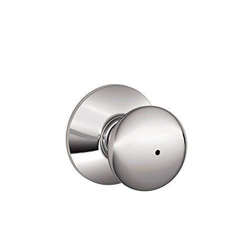 Schlage F40PLY625 Plymouth Privacy Knob, Bright (Schlage Push Button Lock)
