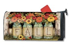 Fall Mason Jars LARGE MailWraps Magnetic Mailbox Cover 20112