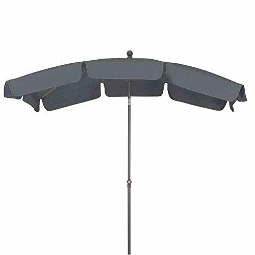 Siena Garden 607992 Sonnenschirm Tropico Bezug grau Gestell anthrazit L 210 x B 140 cm