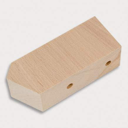 aus Holz 2X HOFMEISTER/® Distanzschr/äge unlackiert 12,4 x 8 x 3,5 cm