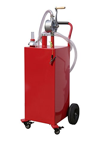 Gas Caddy (Arksen 35-Gallon Gas Caddy Fuel Tank Portable Storage Transfer Gasoline w/Pump 35-Gallons Capacity)