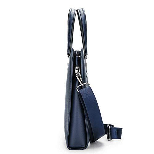 À Homme En Bandoulière Bleu Pour Noir Cuir Sac Mlpus couleur xwvP55