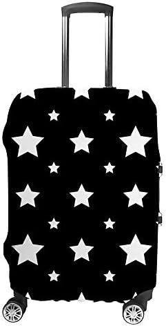 スーツケースカバー 星柄 黒い背景 伸縮素材 キャリーバッグ お荷物カバ 保護 傷や汚れから守る ジッパー 水洗える 旅行 出張 S/M/L/XLサイズ