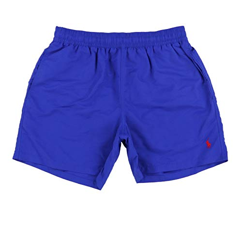 Polo Ralph Lauren Mens Drawstring Swim Trunks (XX-Large, Royal Blue)