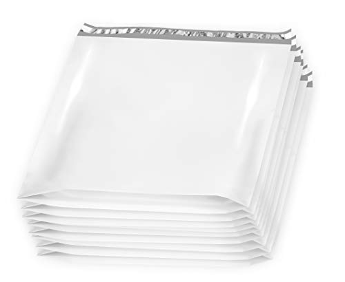 25 Pack Large Poly Mailers 24 x 21 x 6 Gusseted Poly Mailer. XX-Large Poly Shipping Bags for Clothes. White Shipping envelopes. White Plastic mailing Bags. Peal and Seal. Packaging ()