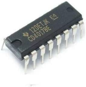 20 PCS CD4017BE DIP-16 CD4017 4017 CMOS COUNTER//DIVIDERS WITH 10 DECODED OUTPUTS