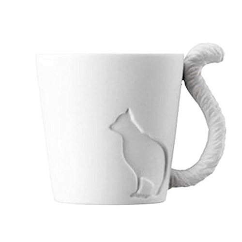 GOOACTION Mugtail Cat Kitten Tail Cups Tea Light Candle ()