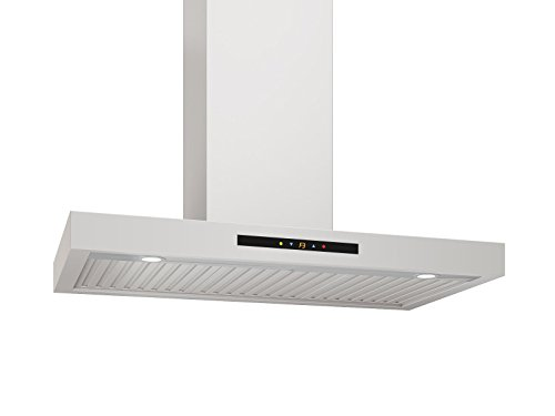 Ancona WRC430 Wall-Mounted Rectangle Shaped Convertible Range Hood, 30-Inch, Stainless Steel