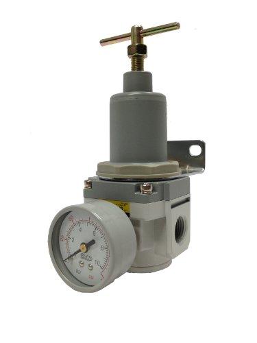 PneumaticPlus SAR4000T-N06BG Air Pressure Regulator, T-Handle, 3/4'' NPT with Gauge and Bracket by PneumaticPlus
