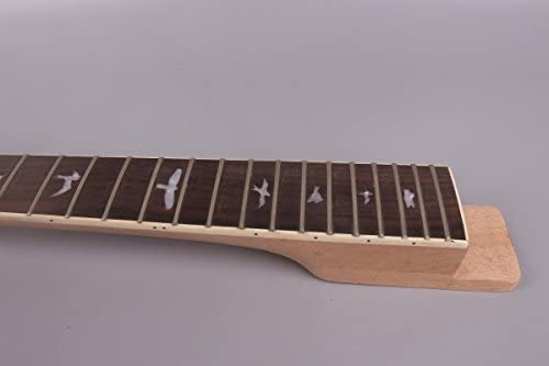 yinfente guitarra eléctrica Cuello de repuesto 24 trastes 24,75 ...