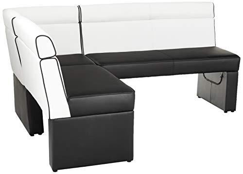 MILAN Nara Fully Upholstered-Nook, Black & White, Black and White