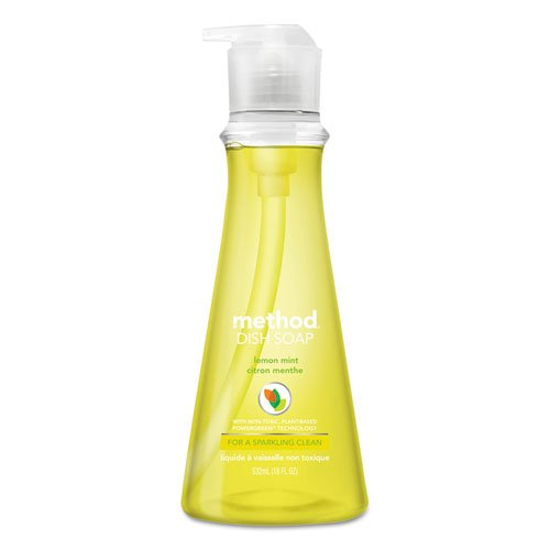 Method Products Dish Soap, Lemon Mint, 18 oz.. Pump Bottle (6/Carton) - BMC- MTH01179CT by Miller Supply Inc
