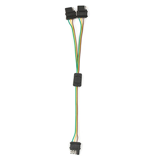 Fontic 2-Way Y-Splitter Adapter Flat 4 Pin Connector Trailer ... on