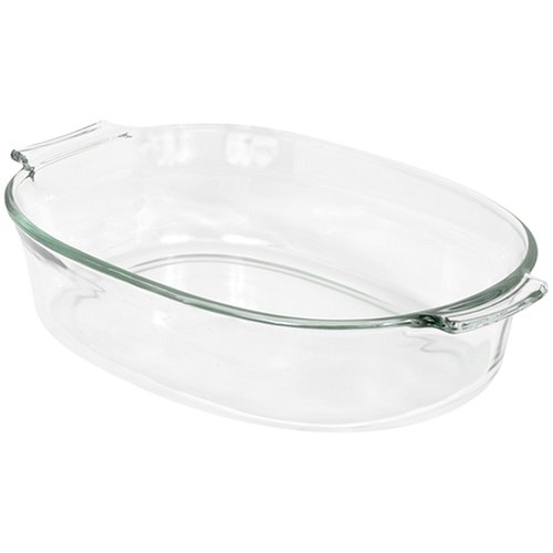 Pyrex 2-Quart Oval Glass Bakeware Dish - Large Oval Bake Dish