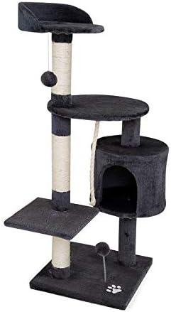 Árbol rascador para gatos Altura 112 cm Gris oscuro
