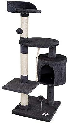 dibea Árbol rascador para Gatos, 112 cm (Gris): Amazon.es: Productos para mascotas