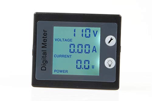 Digital Meter with CT, TOFKE AC 80-260V 10A Multifunciton Voltage Amperage Power Energy Meter STN Full-View LCD Digital Multimeter Gauge Monitor LCD Digital Display Volts Current Measuring