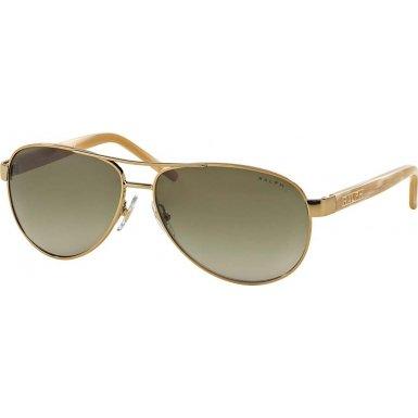 Ralph Sunglasses - 4004 / Frame: Gold Cream Lens: Brown - Ra4004