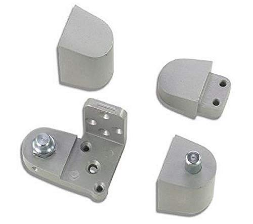 US Aluminum Style Storefront Door Pivot Hinge Set in Aluminum Finish - Choose Handing (Right Hand) ()