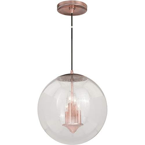 Pendants 4 Light Fixtures with Copper Finish Steel Material Candelabra 16