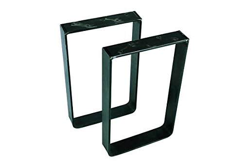 30'' Tall X10'' Wide Square Table Legs, Set of Two (2)Powdercoat Black by Garden Gizmos LLC