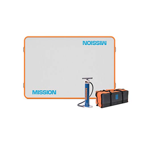 - Mission Boat Gear Reef Mat Inflatable Floating Dock Water Lounge (6' x 8')
