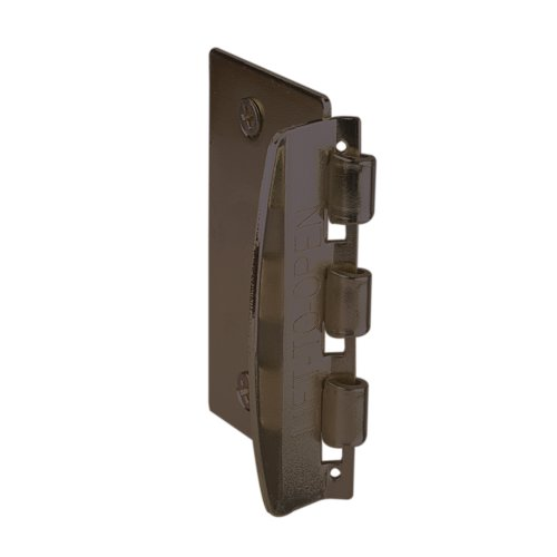 Prime-Line U 10321 Flip Action Door Lock – Reversible Bronze Privacy Lock with Anti-Lock Out Screw for Child Safe Mode, 2-3/4""