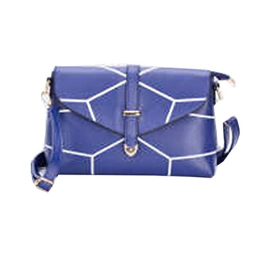 Donna Pu Tracolla Leather Jia Borse Qing Mano Blue Classic Da A pnft81