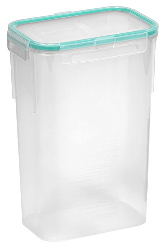 10-Cup Airtight Rectangle Food Storage Container, Plastic, 2-Pack