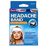 Thera-Med Cold Pack Head Ache Band. Comfortable. Convenient. Reusable. For Safe & Natural Pain Relief.