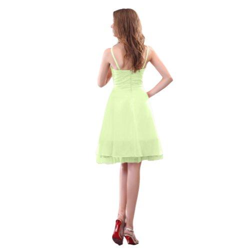 damigella ginocchio lunghezza al linea abiti Sunvary Sage una in perline con Homecoming abiti da d'onore Chiffon wqIC8xpxF
