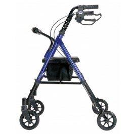 Lumex Set n™ Go Height Adjustable Rollator -Set N Go Height Adjustable Rollator Burgundy - Each 1