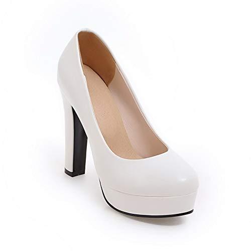36 Blanc Blanc Femme Plateforme 5 APL10720 BalaMasa nUXTx