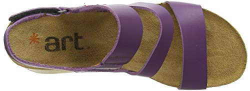 Para borne Con Abierta Violet 1320 Mujer Punta violet Sandalias Becerro Violet Morado Art 8wqtX6O