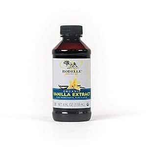 Rodelle Organic Pure Vanilla Extract, 4-Ounce