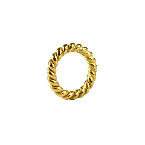 18K Gold Overlay Closed Jump Ring Twisted JCG-105-8MM