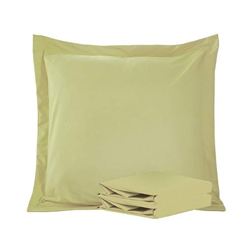 - NTBAY 100% Brushed Microfiber Pillow Shams Set of 2, Soft and Cozy, Wrinkle, Fade, Stain Resistant (Sage Green, Euro 26