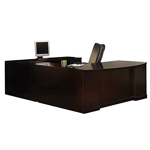 Mayline SURBBF72ESP Sorrento Series U-Shaped Desk with Executive U, Bow Front, Right Bridge, Puff-Desk, Off-Credenza Configurations, Espresso Veneer - Sorrento Series File