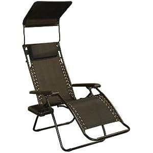 Bliss Hammocks Gravity Free Recliner Chair Raven Black