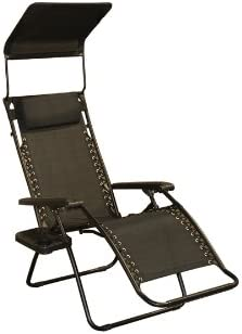 Bliss Hammocks Gravity Free Recliner Chair Raven Black