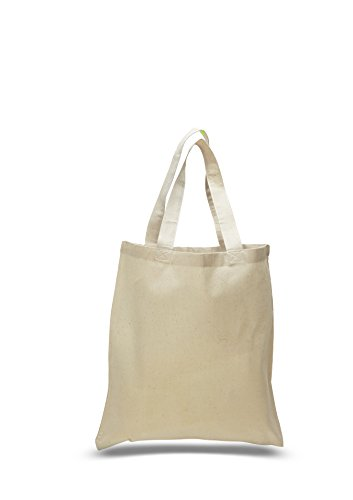 Set of 50 - Wholesale 100% Natural Cotton Plain Tote Bags, BULK Eco-Friendly Tote Bags in Bulk (15