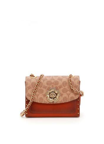 COACH Women's Parker 18 Signature Canvas With Rivets B4/Rust One Size