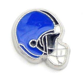 - Cherityne Blue Football Helmet Floating Charm for Locket Pendants